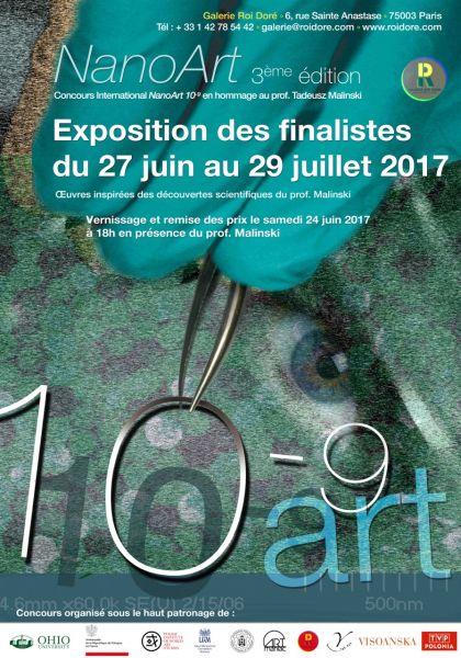 Plakat - wystawa w Paryżu, patronat UAM