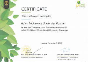 """UAM w """"Zielonym"""" rankingu"""