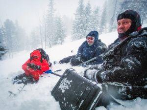 Poszukiwania bruzdnic pod lodem w Tatrach