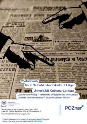 Wykład otwarty prof. Heinza-Helmuta Lügera