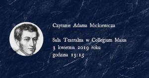Wspólne czytanie poezji Adama Mickiewicza