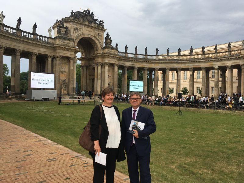 Zdjęcie - prorektor ds. nauki i współpracy międzynarodowej UAM prof. Ryszard Naskręcki w Poczdamie