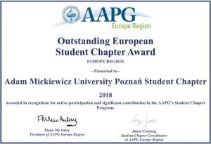 Wyróżnienie na skalę europejska dla studenckiego koła naukowego AAPG