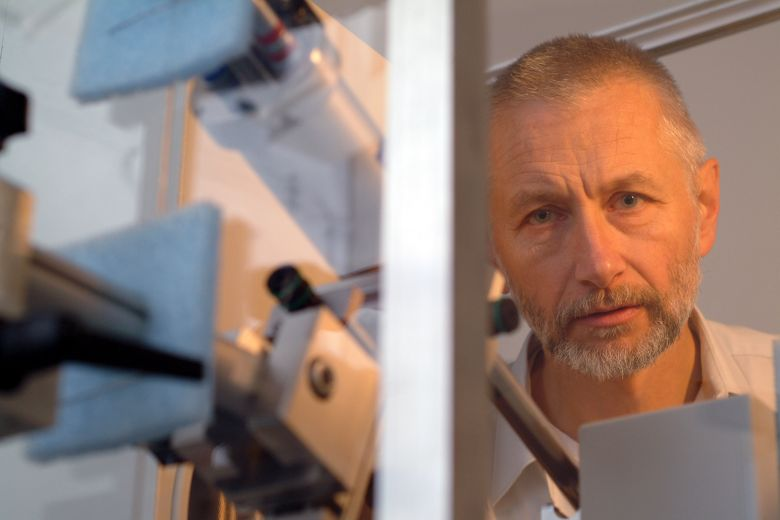 Professor Jaskólski in the lab