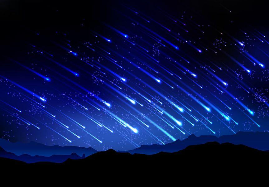 meteoryty grafika