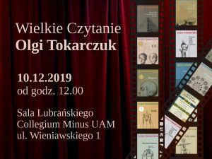 Wielkie Czytanie Olgi Tokarczuk