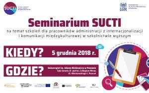 Seminarium SUCTI na temat szkoleń dla pracowników administracji z internacjonalizacji i komunikacji międzykulturowej w szkolnictwie wyższym