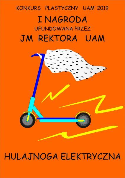 konkurs plastyczny UAM - do wygrania hulajnoga