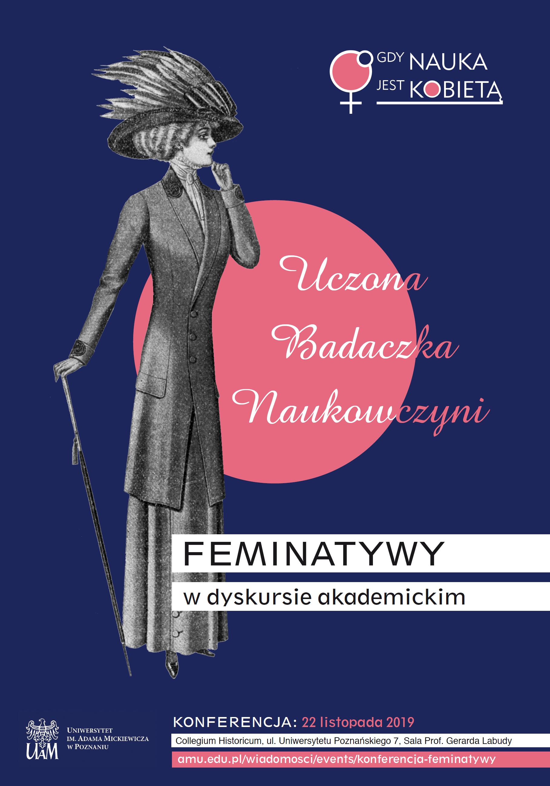 Plakat konferencji Feminatywy