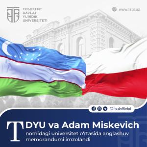 Podpisanie umowy o współpracy z Państwowym Uniwersytetem Prawa w Taszkencie