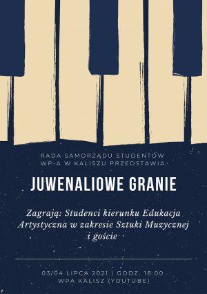 """""""Juwenaliowe granie"""" – koncert online studentów WP-A"""
