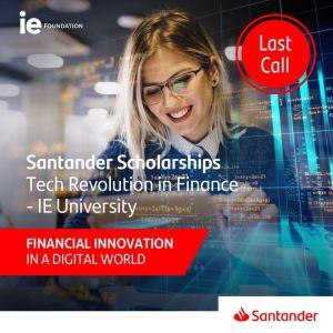 Darmowe szkolenia online z certyfikatem  – Stypendium Santander Tech Revolution In Finance-IE University