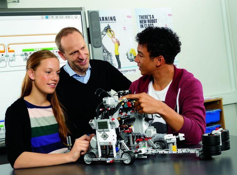 Zdjęcie - programowanie robota LEGO
