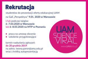 Wybierz się z nami na targi edukacyjne - trwa rekrutacja studentów UAM