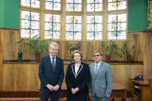 Spotkanie prorektora UAM z sekretarzem Komisji Weneckiej