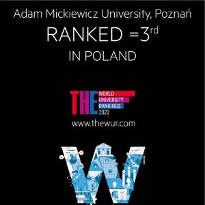 UAM na 3 pozycji w kraju w rankingu Times Higher Education