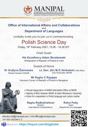 Dzień Nauki Polskiej w Manipalu