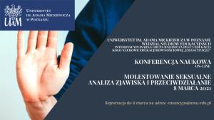 Konferencja Naukowa on-line pt. Molestowanie seksualne. Analiza zjawiska i przeciwdziałanie