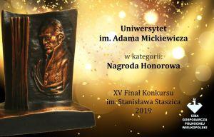 Gospodarcza Nagroda Honorowa im. Stanisława Staszica dla UAM!