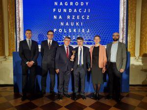 Prof. Andrzej Wiśniewski odebrał  Nagrodę Fundacji na rzecz Nauki Polskiej 2019